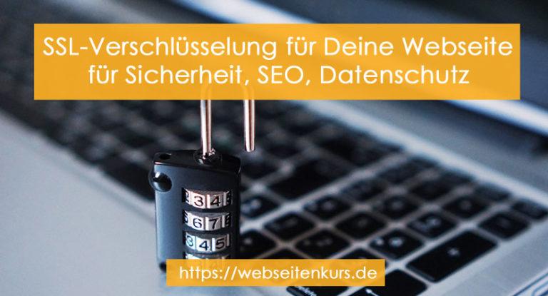 Nutze unbedingt SSL-Verschlüsselung