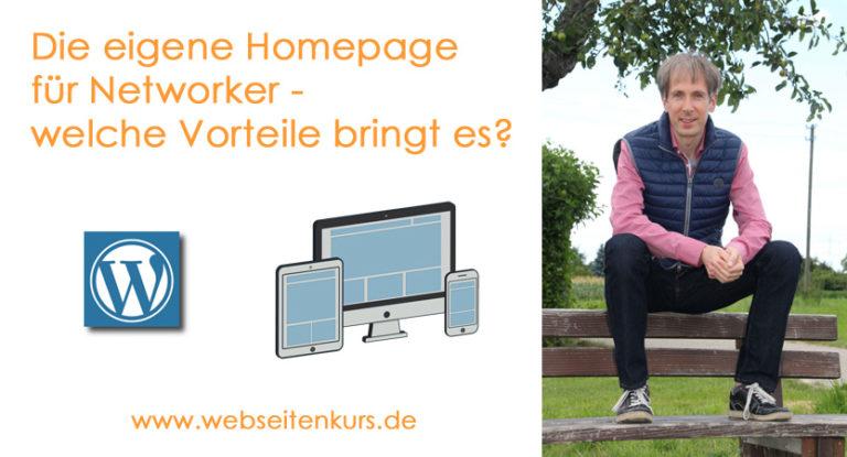 Warum man als Networker eine eigene Homepage haben sollte